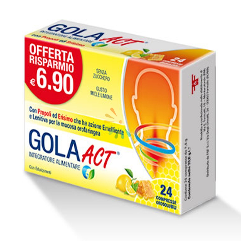 F&f Gola Act Miele Limone 24 Compresse Solubili 33,6 G