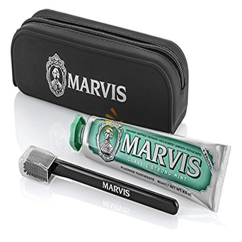 Marvis Kit Beautybag Classic 85 Ml + 1 Spazzolino + 1 Dentifricio Marvis 85 Ml