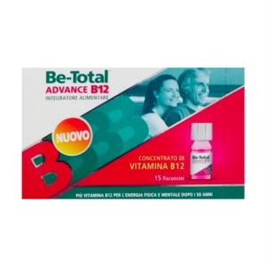 Betotal Linea Vitamine e Minerali Be-Total Advance B12 Integratore 15 Flaconcini